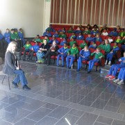 Junior school listening intently!