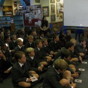 The whole junior school - serious and seriously smart boys